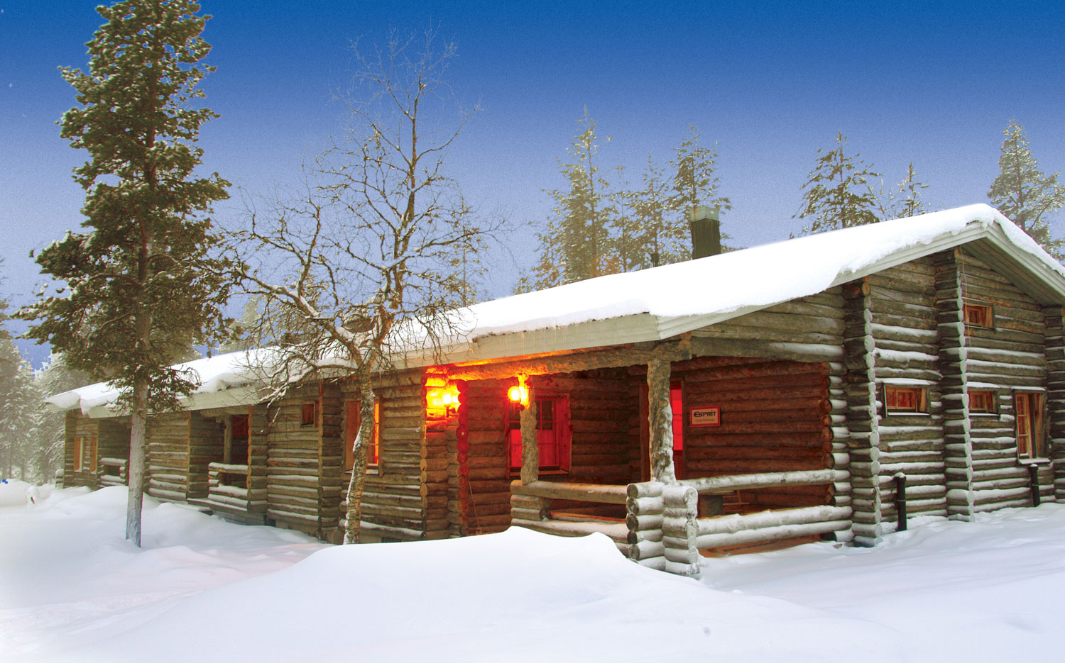 Christmas Cabins - A Typical Cabin Entrance