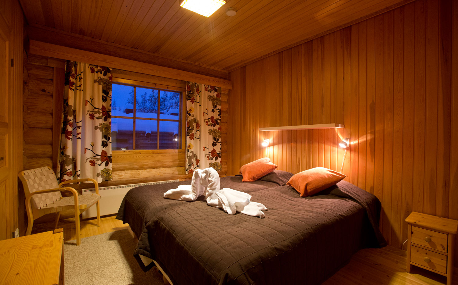 Christmas Cabins - A Typical Cabin Double Room