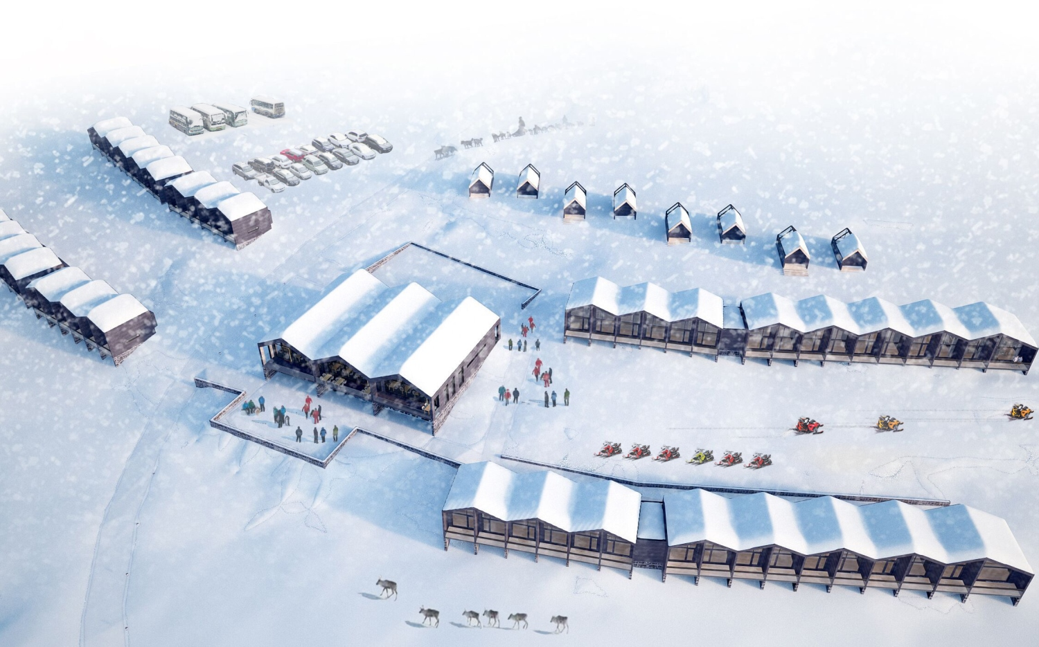 Star Arctic Hotel - Aerial view (artist's impression)