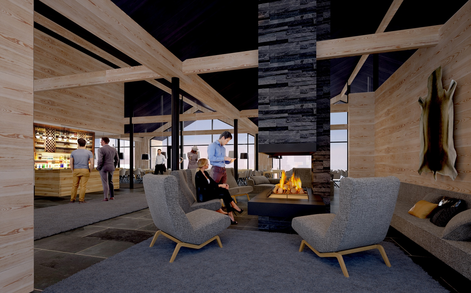 Star Arctic Hotel - Bar and Reception (artist's impression)