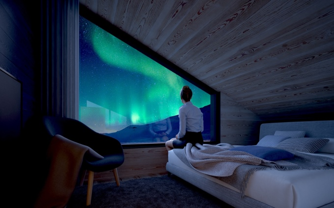 Star Arctic Hotel - A bedroom in a type A and C suite  (artist's impression)