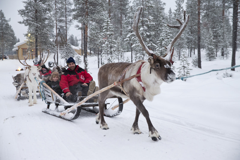 sleigh ride to visit santa